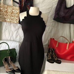 Wyatt little black scalloped dress